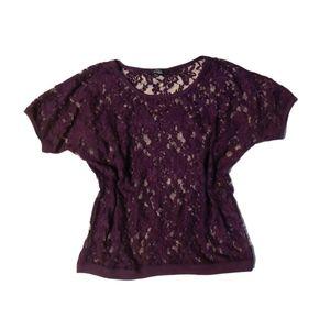 🍓2 for $30🍓 Iris Dark Purple Lace tshirt
